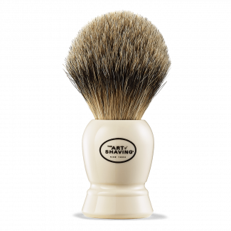 SH BRUSH FINE BADGER IVORY #3