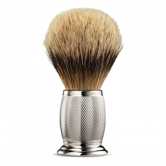 ENGRAVED SILVERTIP SHAVING BRUSH